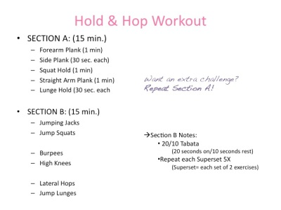 Hold & Hop Workout