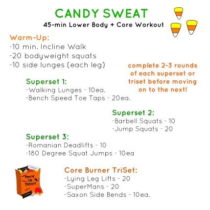 candy sweat